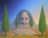 Das Leben ist kein Spiel_Mario SCHLEINZER (40cmx50cm) Farbstift,Acryl-Harzölfarbe auf Hartfaserplatte [AOS] Magazine - Art On Screen
