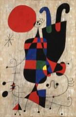 Joan Miró, Malerei (Figuren mit Hund vor der Sonne), 1949 Emanuel Hoffmann-Stiftung - Depositum in der Öffentlichen Kunstsammlung Basel © Successió Miró 2014-Bildrecht, Wien, 2014