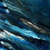 Sascha Weinberg: Aqua II, 50x40x1,8cm, Verlauftechnik, Acryl auf Leinwand, 2014 | Art On Screen - [AOS] Magazine