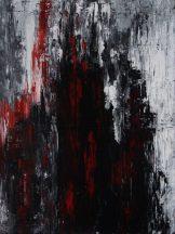Sascha Weinberg - Mythologie, Sascha Weinberg: BranII, 60x80x1,8cm, Acryl auf Leinwand, Spachteltechnik, 2014 | Art On Screen - [AOS] Magazine