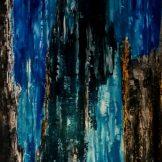 Sascha Weinberg - Mythologie, Sascha Weinberg: Rheingold II,60x80x1,8cm,Spachteltechnik, 2014   Art On Screen - [AOS] Magazine
