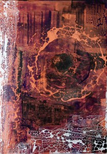 Sascha Weinberg: Fragilitas1, 50x70x1,8cm, Acryl auf Leinwand, Mischtechnik, 2015