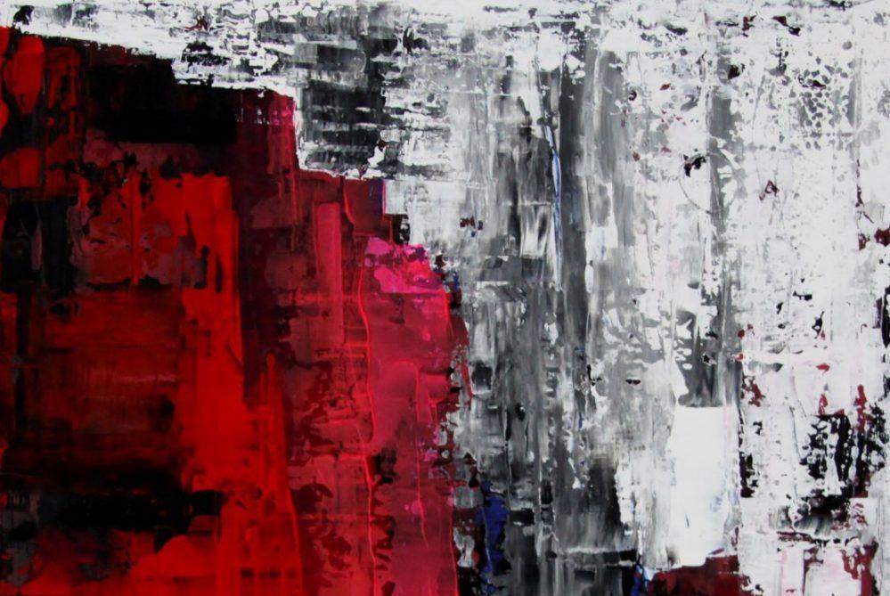 Sascha Weinberg - Mythologie, Sascha Weinberg: O. Titel, 50x60,1,8cm, Acryl auf Leinwand, Wischtechnik, 2009 | Art On Screen - [AOS] Magazine