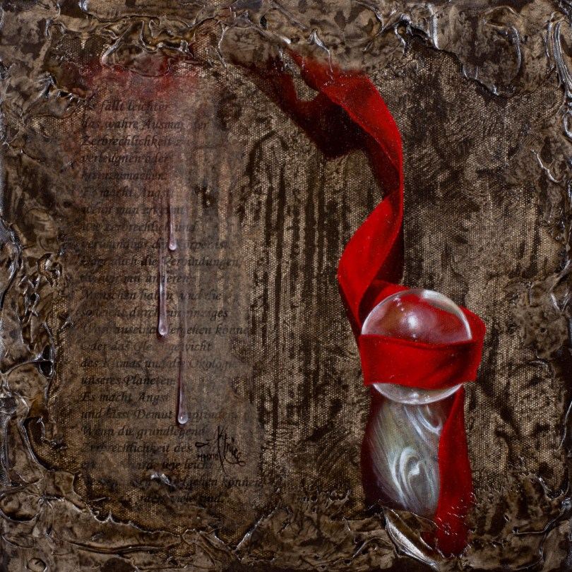Aktrice - 2013 - 20x20cm - rotes Band mit Glaskugel Aktrice | Art On Screen - [AOS] Magazine - NEWS