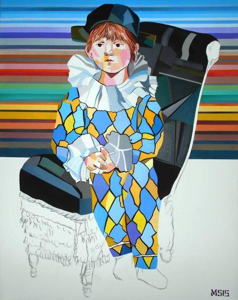Martin G. Sonnleitner: PoP Harlekin, 100x80 cm, Öl/Acryl-Leinwand, 2015 | Art On Screen - [AOS] Magazine - NEWS