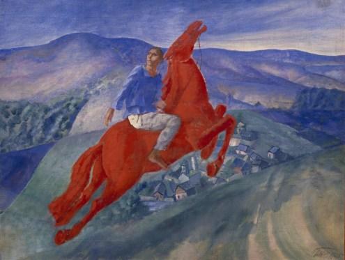 Bildgalerie zur Ausstellung Chagall bis Malewitsch, Kus'ma Petrow-Wodkin, Phantasie, 1925, St. Petersburg, Staatliches Russisches