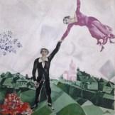 Bildgalerie zur Ausstellung Chagall bis Malewitsch, Marc Chagall, Der Spaziergang, 1917-1918, St. Petersburg, Staatliches Russisches Museum © Bildrecht, Wien, 2015