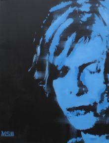 Martin G. Sonnleitner David Bowie, The lonliest guy, 60x50 cm, 2011, Art On Screen AOS Magazine NEWS