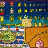 Heimweh der Fenster, Heimweh ins Meer, Meisterwerke der Sammlung Essl, HUndertwasser, Friedenreich Hundertwasser