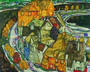 Egon Schiele und Gustav Klimt, Egon Schiele, Der Häuserbogen II,