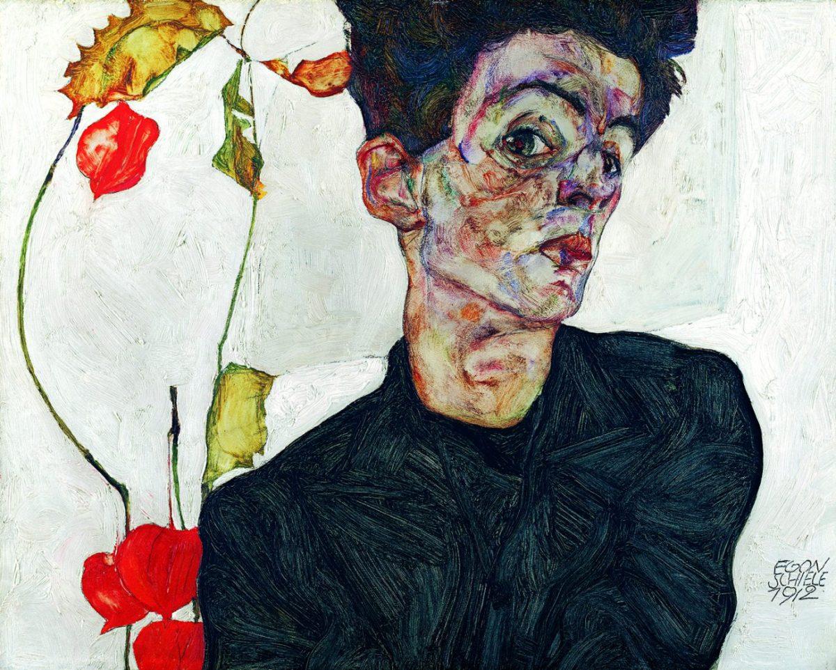 Egon Schiele - Selbstbildnis, 1912 - Österreichische Moderne