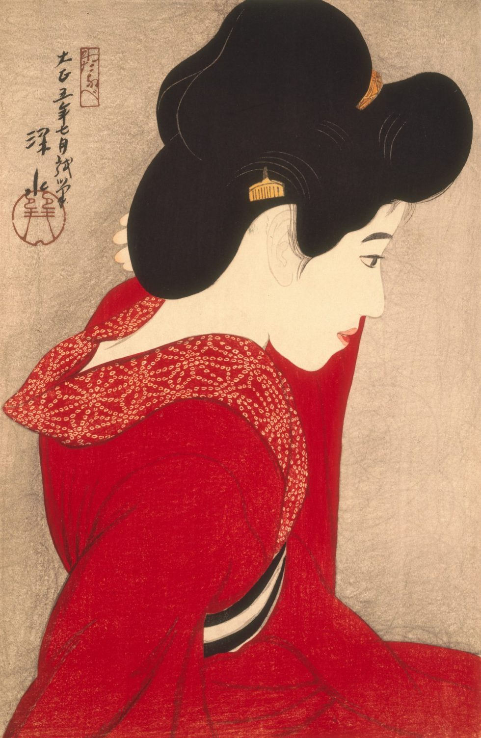Itō Shinsui, Itō Shinsui - Vor dem Spiegel, Nostalgie in der Moderne,