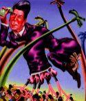 Peter Saul, Ronald Reagan in Grenada,