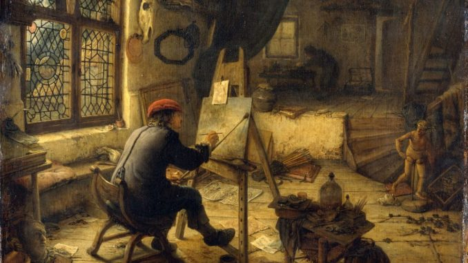 Die Geburt des Kunstmarktes, Adriaen van Ostade, Der Maler in seiner Werkstatt, Ausstellung im Bucerius Kunst Forum,