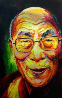 Enke Caecilie Jansson, Dalai Lama 100x150cm © Enke Caecilie Jansson - Art On Screen - NEWS - [AOS] Magazine