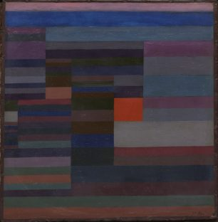 Paul Klee Ausstellung, PAUL KLEE, FEUER ABENDS, 1929, 95, Öl auf Karton, 34 x 35 cm, The Museum of Modern Art (MoMA), New York, Art On Screen - News - [AOS] Magazine