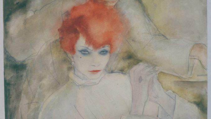 Jeanne Mammen - Ausstellung, Die Rothaarige, Jeanne Mammen, Die Rothaarige, Berlinische Galerie