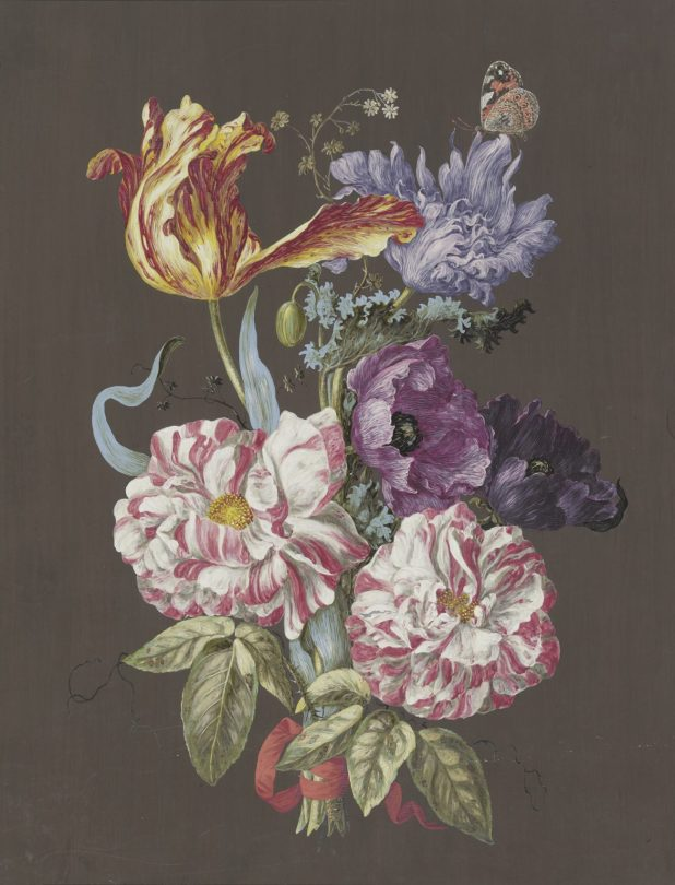 Unbekannt (trad. Zuschreibung Barbara Regina Dietzsch), Blumengebinde mit Rosen, Tulpen, Mohn und anderen Blumen, Art On Screen - News - [AOS] Magazine