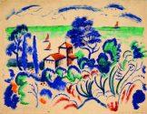 Gurlitt Ausstellung - Das Kunstmuseum Bern, August Macke, Landschaft mit Segelbooten, Art On Screen - News - [AOS] Magazine