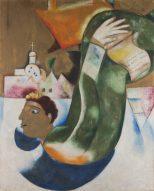 Marc Chagall Ausstellung, Der heilige Droschkenkutscher (Le Saint Voiturier), 1911-1912, Öl auf Leinwand, Art On Screen - News - [AOS] Magazine