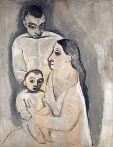 Kunstmuseum Basel, Pablo Picasso, Homme, femme et enfant, Herbst 1906 (Paris), Öl auf Leinwand, Art On Screen - News - [AOS] Magazine