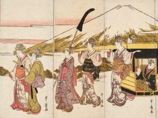 Bestandsaufnahme Gurlitt, Utagawa Toyohiro, Frauen imitieren eine Damiyo Prozession, Art On Screen - News - [AOS] Magazine