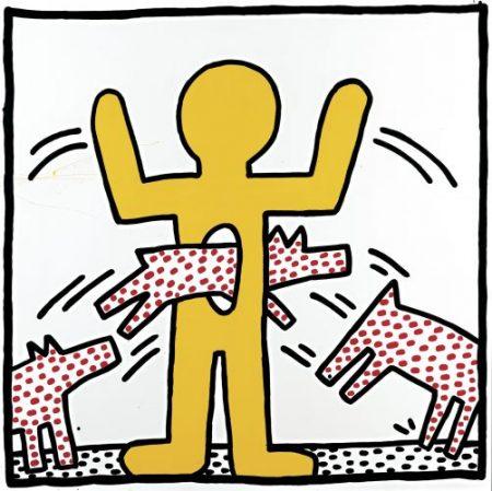 Keith Harings Alphabet, Keith Haring, Ohne Titel, 1982 Gebranntes Email auf Stahl, Art On Screen - News - [AOS] Magazine