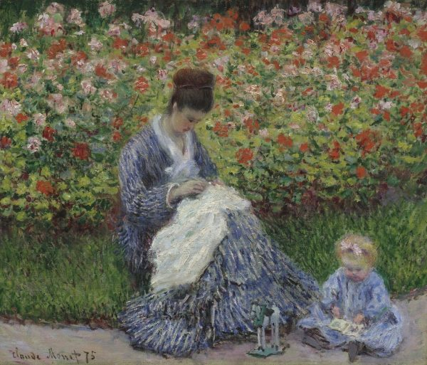 Claude Monet - Camille Monet mit Kind im Garten, Art On Screen - NEWS - [AOS] Magazine