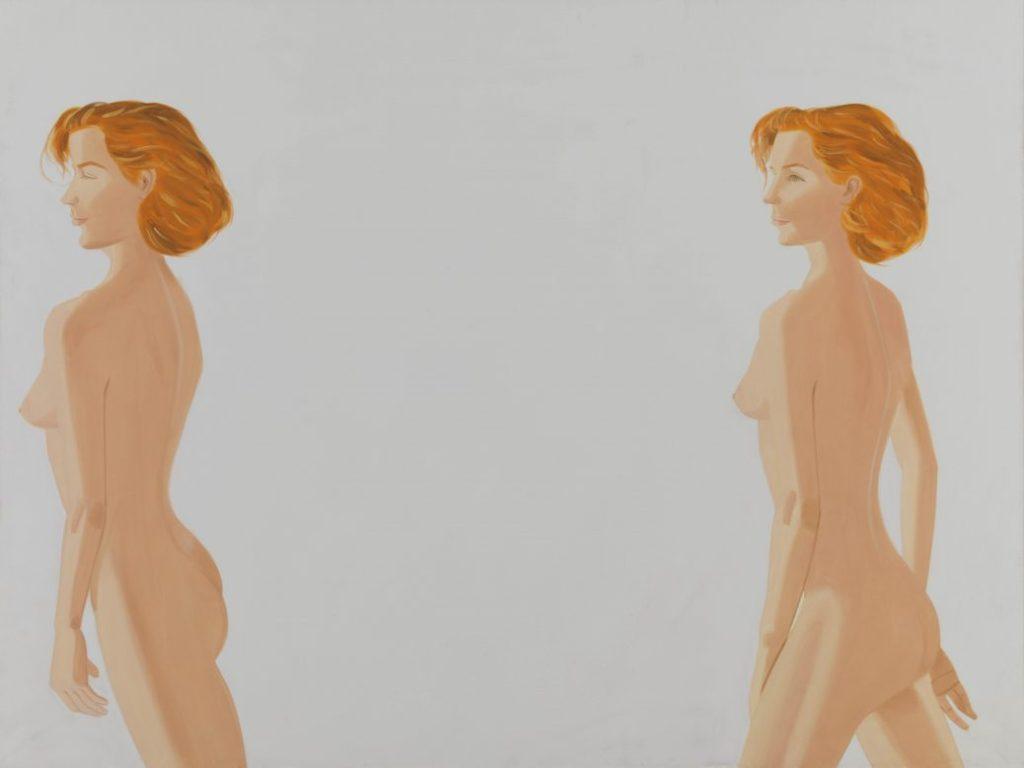 Alex Katz Ausstellung, Alex Katz, Red Nude, 1988 Öl auf Leinwand, 228 x 305 cm, Bayerische Staatsgemäldesammlungen, Museum Brandhorst, München © Alex Katz, VG Bild-Kunst, Bonn 2018 | Art On Screen - NEWS -[AOS] Magazine