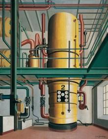 Welt im Umbruch, Kunst der 20er Jahre, Carl Grossberg - Der gelbe Kessel,   Art On Screen - NEWS - [AOS] Magazine