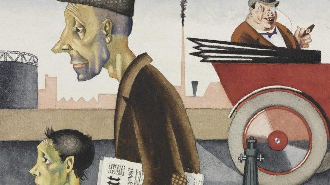 Welt im Umbruch, Kunst der 20er Jahre, Georg Scholz - Arbeit schändet,   Art On Screen - NEWS - [AOS] Magazine