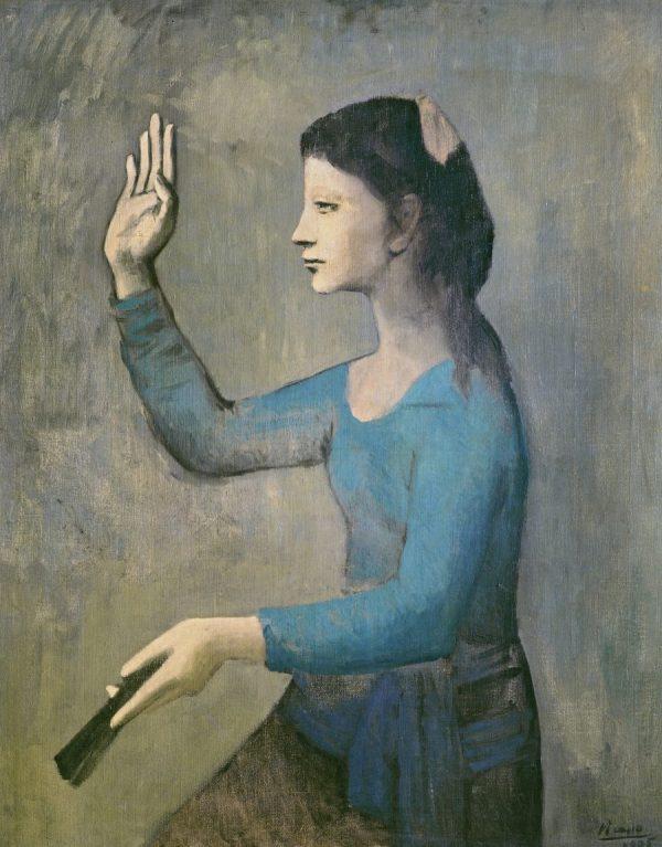Picasso in Blau und Rosa, PABLO PICASSO, FEMME À L'ÉVENTAIL, Fondation Beyler