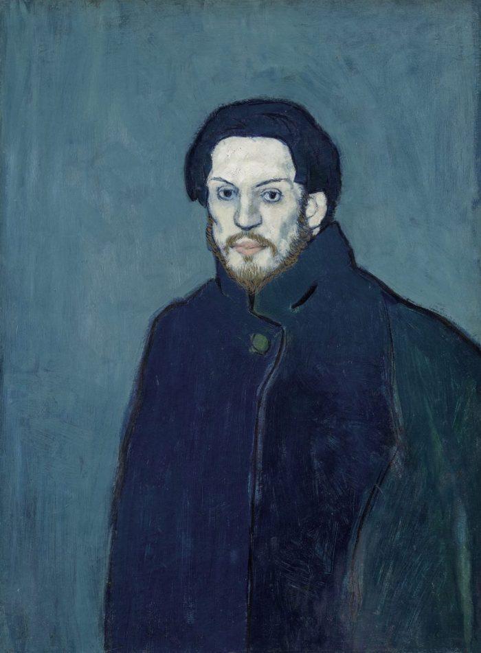 Der junge Pablo Picasso, Blaue und Rosa Periode, PABLO PICASSO, AUTOPORTRAIT