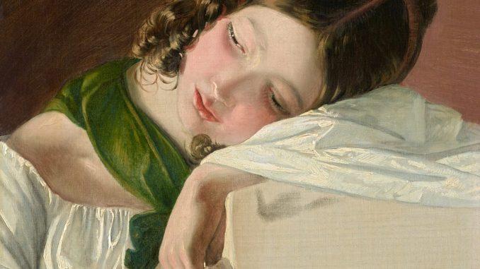 Friedrich von Amerling, Junges Mädchen, Ausstellung Rubens bis Makart, Die Fürstlichen Sammlungen Liechtenstein, Albertina Wien, Rubens bis Makart in der Albertina