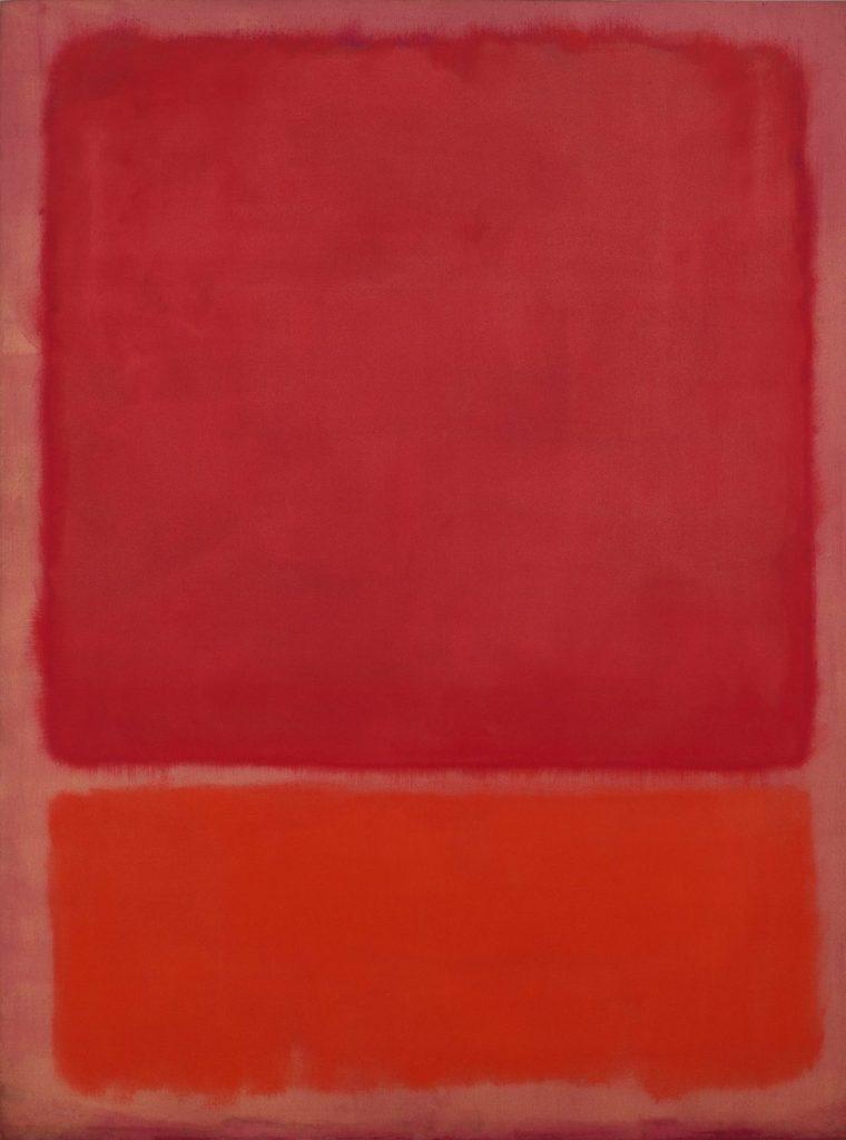 Mark Rothko - Untitled (Red, Orange), Mark Rothko Ausstellung, Mark Rothko Bilder, Rothko Ausstellung in Wien, Rothko Retrospektive im KHM, Kunsthistorisches Museum