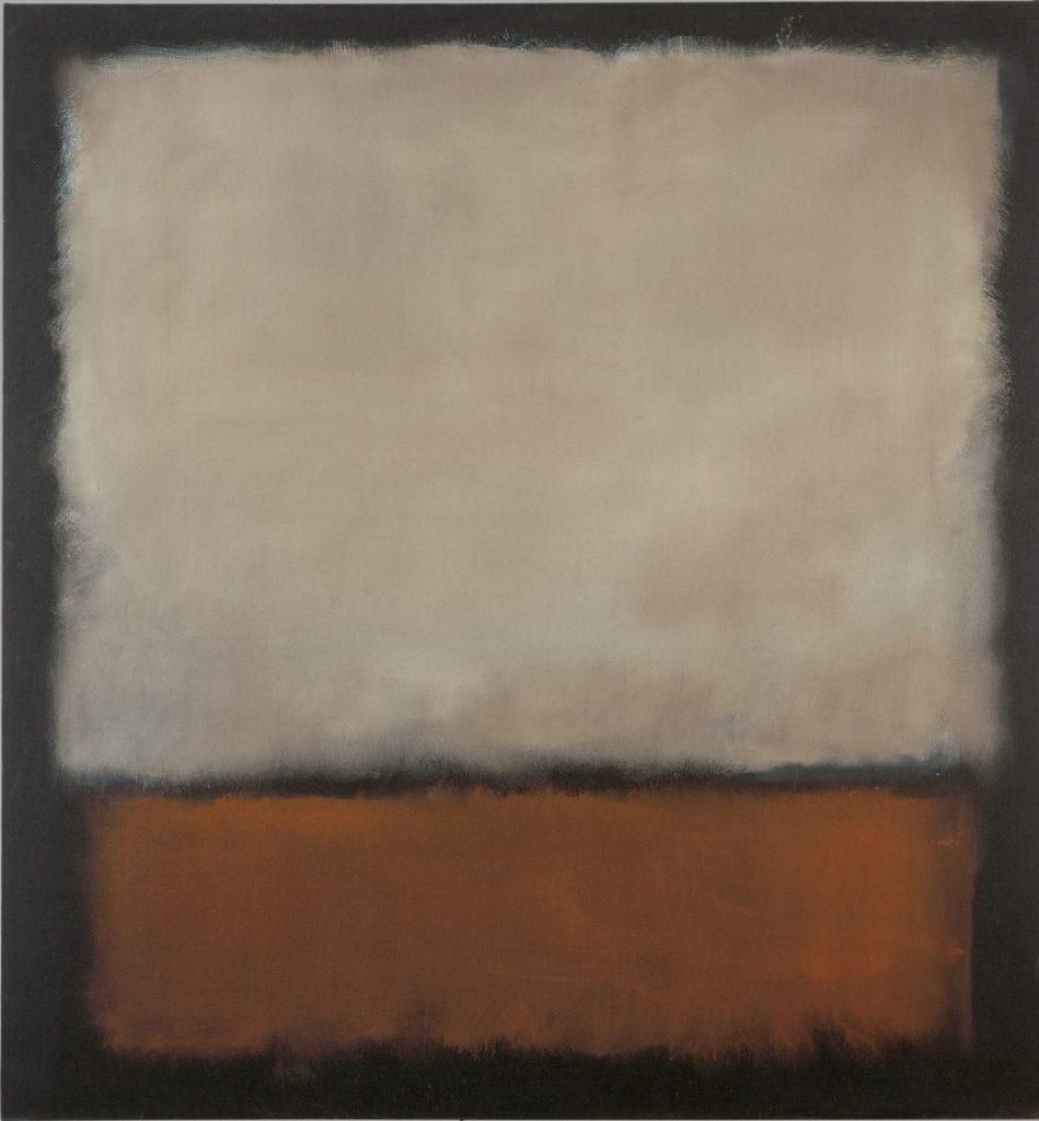 Mark Rothko No. 7 (Dark Brown, Gray, Orange), Mark Rothko Ausstellung, Mark Rothko Bilder, Rothko Ausstellung in Wien, Rothko Retrospektive im KHM, Kunsthistorisches Museum