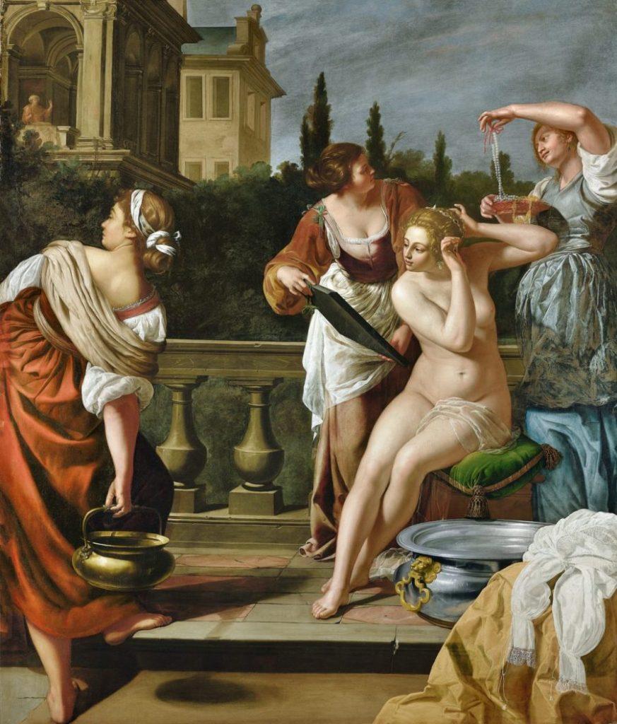 Artemisia Gentileschi, Bathseba im Bade, Wege des Barock, Die Nationalgalerien Barberini Corsini in Rom, Ausstellung Wege des Barock,
