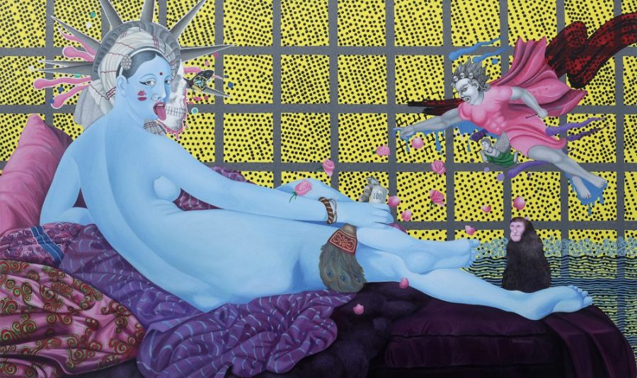 The Kali - Odalisque, Manish Harijan, Nepal Art Now, Weltmuseum Wien