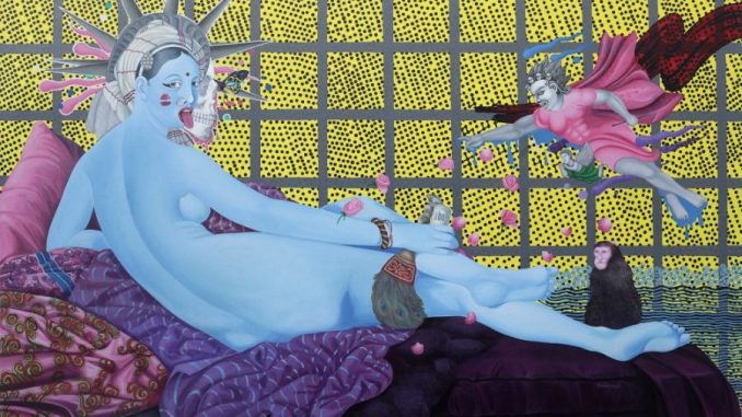 Ausstellung Nepal Art Now, The Kali - Odalisque, Manish Harijan, Nepal Art Now, Weltmuseum Wien