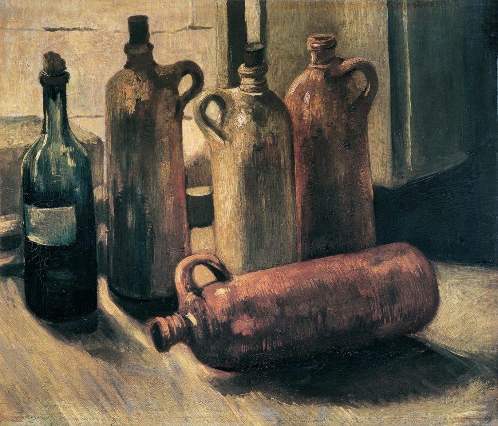 Vincent van Gogh, Stillleben mit fünf Flaschen, Van Gogh Stillleben, Von Gogh Ausstellung, Stillleben, Museum Barberini
