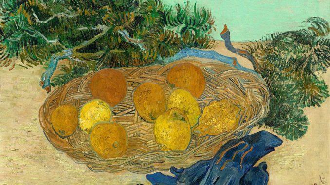 Vincent van Gogh, Stillleben mit Orangen, Zitronen und blauen Handschuhen, Van Gogh Stillleben, Von Gogh Ausstellung, Stillleben, Museum Barberini,