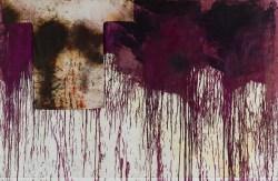 Hermann Nitsch, Schüttbild mit Malhemd, Räume aus Farbe, Albertina Wien