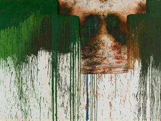 Hermann Nitsch, Schüttbild mit Malhemd, Räume aus Farbe, Albertina Wien,