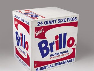 Andy Warhol, Brillo Box, Ausstellung AMERIKA, DISNEY, ROCKWELL, POLLOCK, WARHOL, Pop art ikone andy warhole