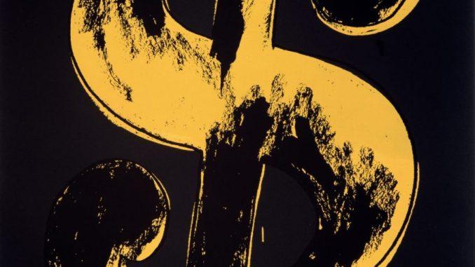 Andy Warhol, Dollar Sign, Ausstellung AMERIKA, DISNEY, ROCKWELL, POLLOCK, WARHOL, Bucerius Kunst Forum
