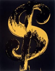 Andy Warhol, Dollar Sign, Ausstellung AMERIKA, DISNEY, ROCKWELL, POLLOCK, WARHOL