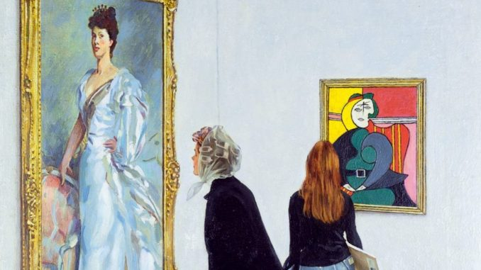 Norman Rockwell, Picasso vs. Sargent, Ausstellung AMERIKA, DISNEY, ROCKWELL, POLLOCK, WARHOL