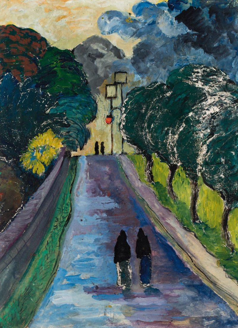 MARIANNE VON WEREFKIN, Die Allee (L'Allée ), Deutscher Expressionismus, Ausstellung im Leopold Museum