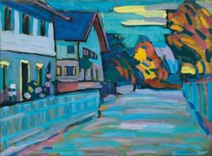 WASSILY KANDINSKY, Murnau – Zwei Häuser, Deutscher Expressionismus, Ausstellung im Leopold Museum