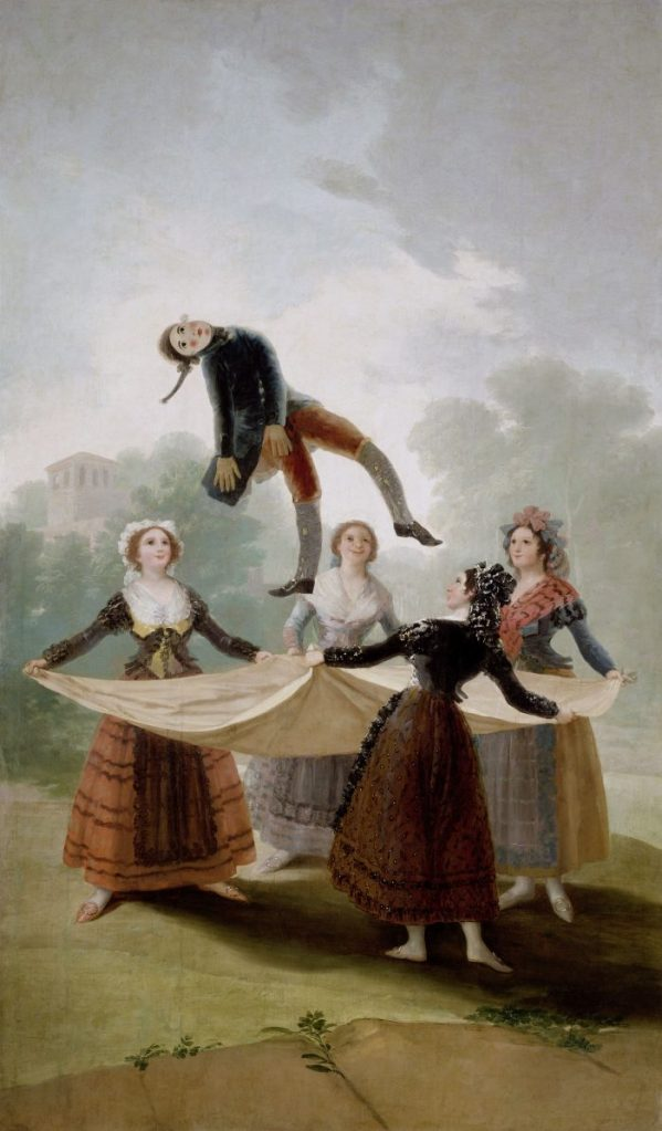 Goya, Francisco de Goya, Die Strohpuppe, El pelele, Fondation Beyeler, Goya Werke und Bilder,